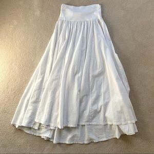 White Three Dots Skirt